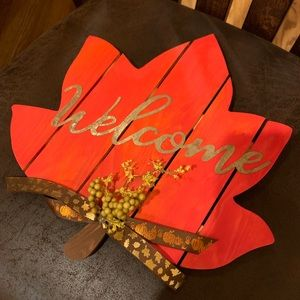 🍁MUST HAVE!🍁 Handmade Welcome Sign